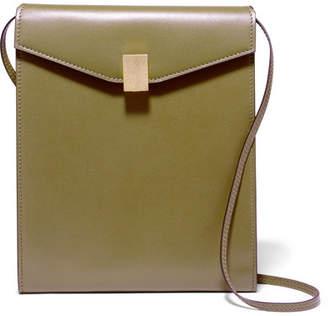 Victoria Beckham Postino Leather Shoulder Bag - Army green