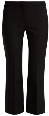 Alexander McQueen Kickback Wool Blend Tuxedo Trousers - Womens - Black