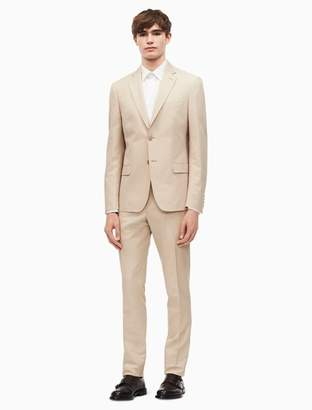 Calvin Klein x-fit solid slim fit cotton linen suit