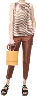 Alberto Biani Shantung Straight-leg Trousers