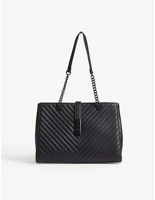 Aldo Oxdrift chevron quilted faux-leather tote