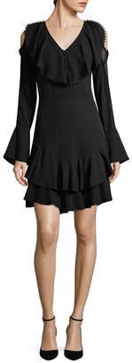 Y-yigal YYIGAL Yigal Azrouel Silk Ruffle Dress