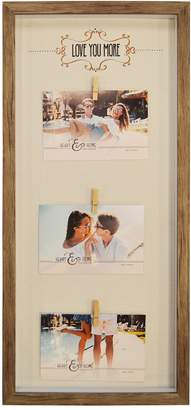 "New View Love You More"" 3-Opening Photo Clip Fashion Collage Frame"