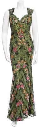 Naeem Khan Floral Lace Gown