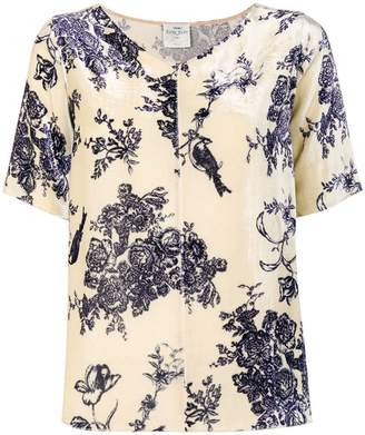 Forte Forte floral bird print top