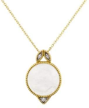 Jude Frances 18K Moonstone & Diamond Lisse Marquis Pendant Necklace