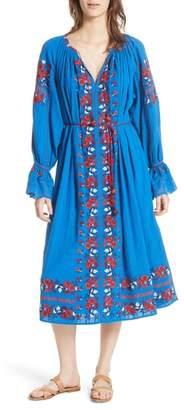 Ulla Johnson Filia Embroidered Midi Dress