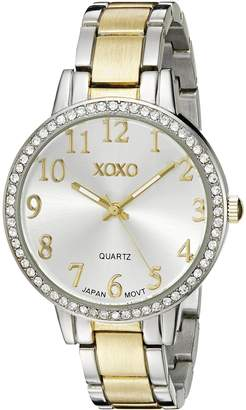 XOXO Women's XO5847 Analog Display Analog Quartz Two Tone Watch