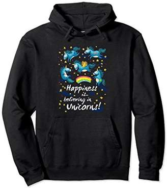Happiness Is Believing In Unicorns Pullover Hoodie