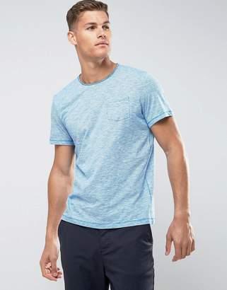Tom Tailor T-Shirt With Fine Stripe Raw Hem And Pocket
