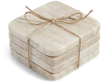 Distinctly Home Four-Piece Marble Coasters Set