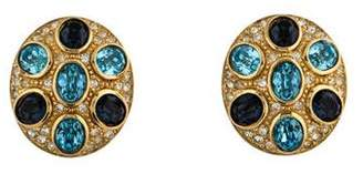 Christian Dior Crystal Clip-On Earrings