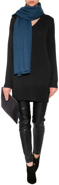 Jil Sander Cashmere Sweater Dress in Black