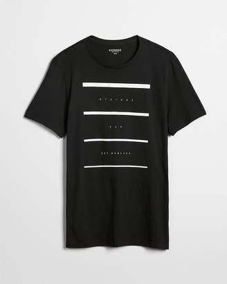 Express Logo Cotton Crew Neck Tee
