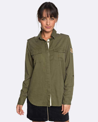 Roxy Womens Military Influence Long Sleeved Shirt