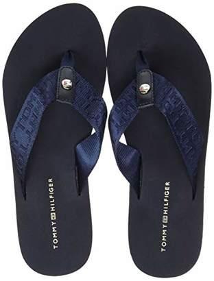 6c1ce68f0 Tommy Hilfiger Women s Flat Beach Sandal Jacquard Flip Flops