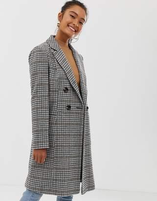 Miss Selfridge tailored coat in check