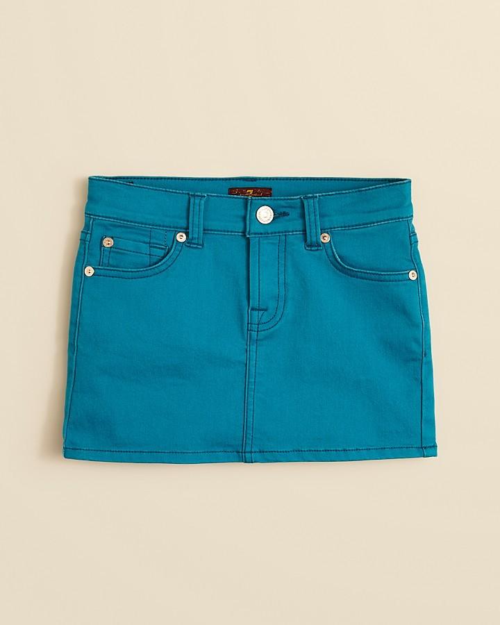 7 For All Mankind Girls' Denim Skirt - Sizes 7-14