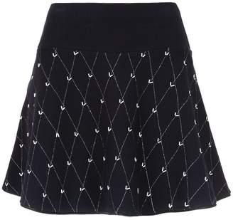 Andrea Bogosian flared knitted skirt
