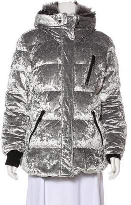 Andrew Marc Fur-Trimmed Down Coat