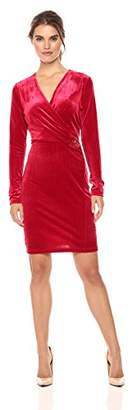 T Tahari Women's Velvet Holiday Maureen Dress