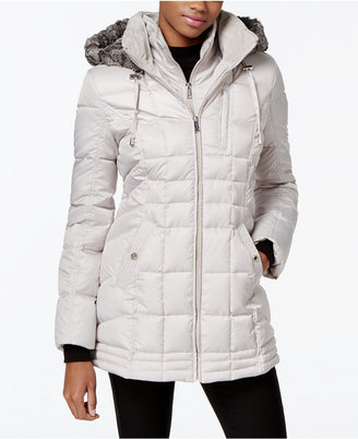 Nautica Faux-Fur-Hood Down Puffer Coat $245 thestylecure.com