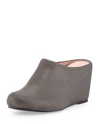 Taryn Rose Boston Distressed Suede Mule, Pewter $189 thestylecure.com