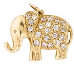 Sydney Evan 14K Diamond Elephant Charm Pendant