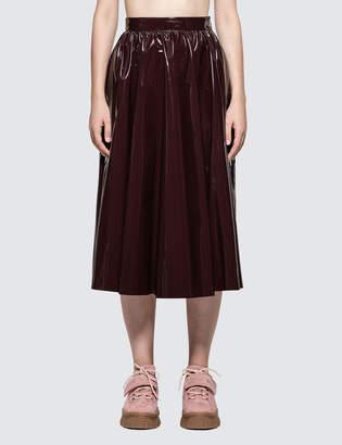 MSGM Stretch Patent Leather Skirt