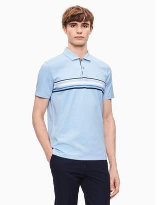 Calvin Klein regular fit engineered stripe polo shirt