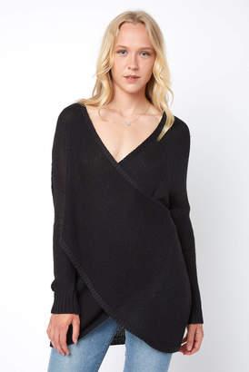 RD Style 3/4 Sleeve Yarn Surplice Tunic