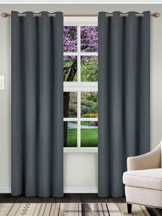 Superior Classic Solid Blackout Curtain Panels (Set of 2)