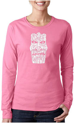 Kahuna LOS ANGELES POP ART Los Angeles Pop Art Tiki - Big Long Sleeve Graphic T-Shirt