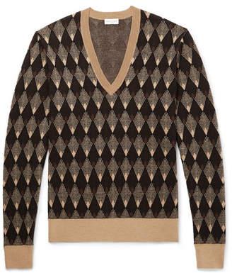 Dries Van Noten Slim-Fit Jacquard Merino Wool And Cotton-Blend Sweater