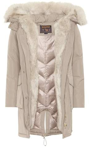 W'S Military fur trimmed down parka