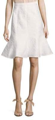 Oscar de la Renta Embroidered Flare Skirt