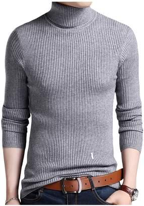 Jueshanzj Mens Pullover Slim Fit Knitwear Warm Turtleneck Sweaters XX-Large
