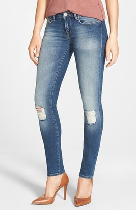 Women's Mavi Jeans Serena Distressed Stretch Skinny Jeans $118 thestylecure.com