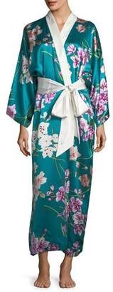 Olivia Von Halle Queenie Barbara Long Silk Robe