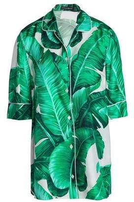 Dolce & Gabbana Oversized Printed Silk-Faille Shirt