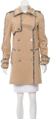 Chanel Bouclé-Trimmed Trench Coat