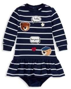 Ralph Lauren Girl's Two-Piece Striped Dress and Bloomers Set