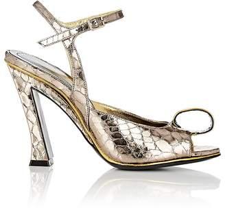 Dries Van Noten Women's Genie-Detailed Stamped Leather Sandals