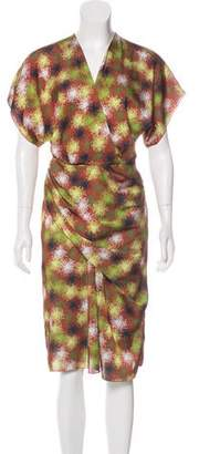 Costello Tagliapietra Printed Midi Dress w/ Tags