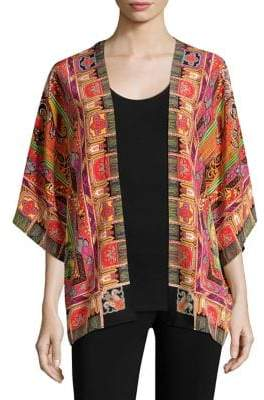 Etro 50th Anniversary Printed Open Cardigan