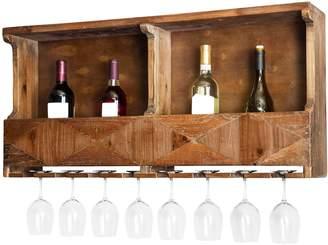 Alaterre Furniture Revive Farmhouse Wood Wine Rack