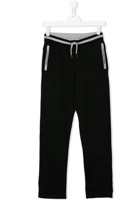 Boss Kids Teen contrast-trim sweatpants