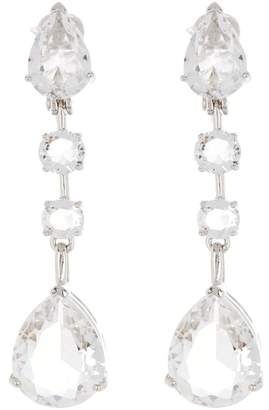Carolee Crystal Linear Drop Clip Earrings