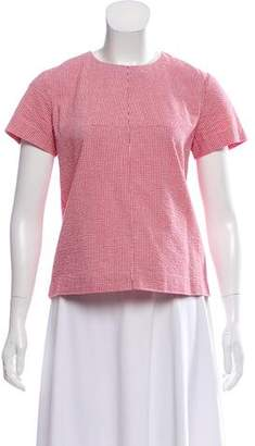 Trademark Gingham Short Sleeve Top