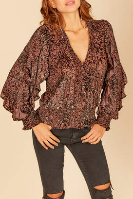 Vintage Havana burnout velvet blouse